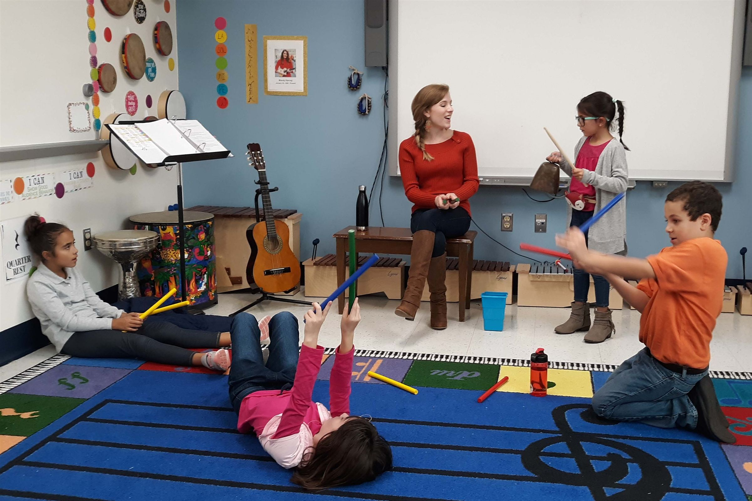 In the music classroom