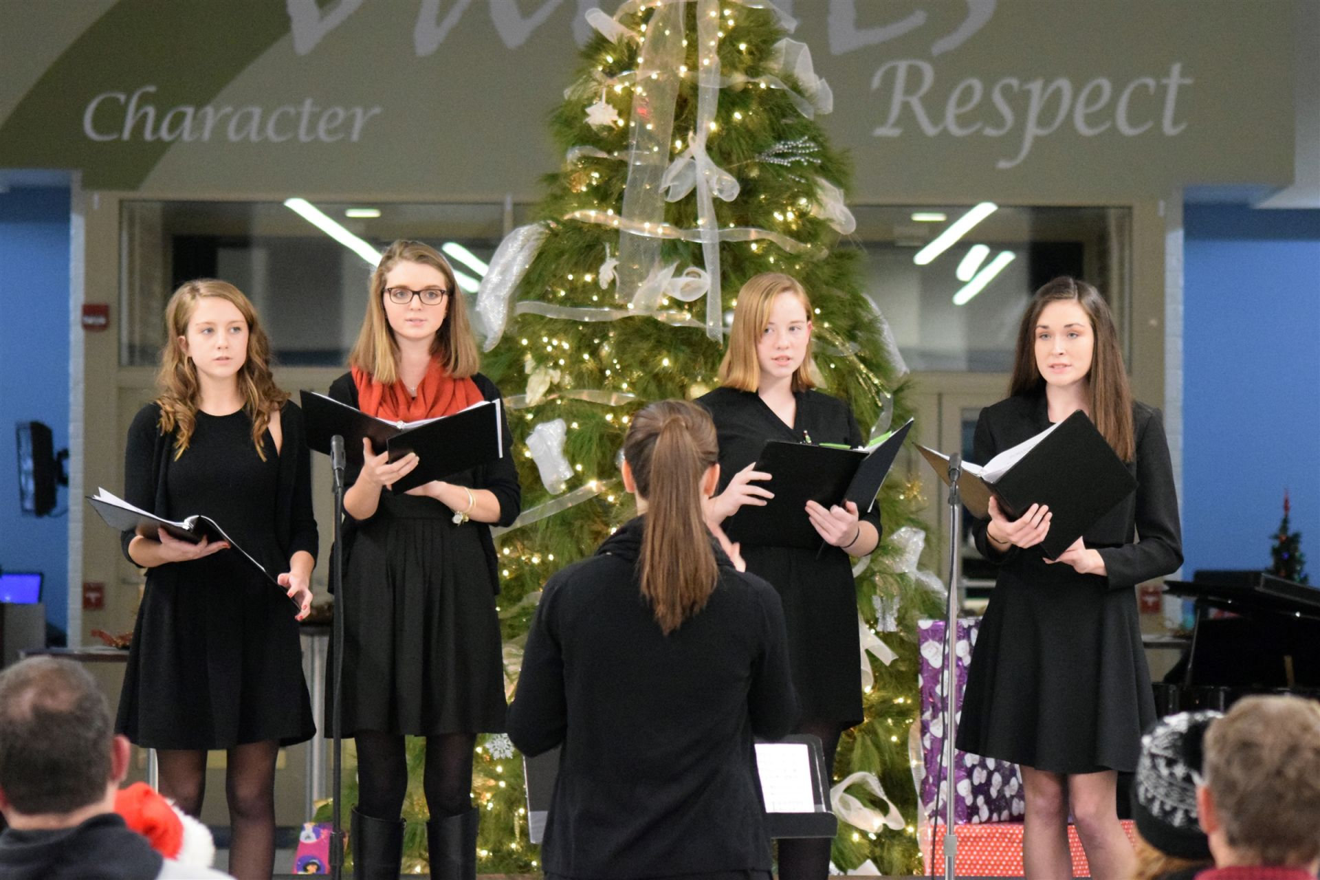 Group performance in the Christmas Program, 2016
