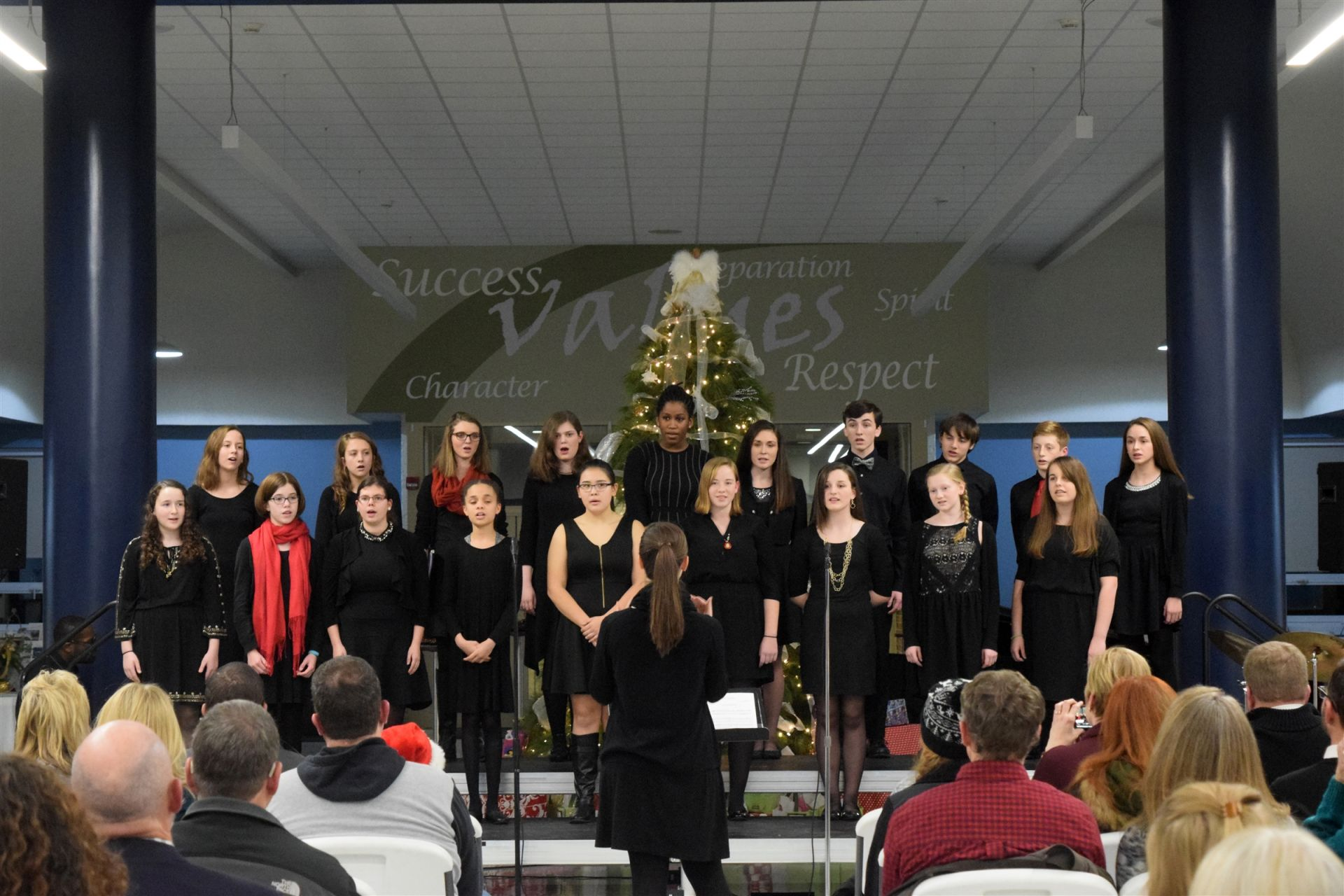 Ensemble performance in the Christmas Program, 2016