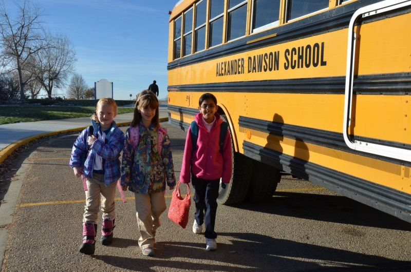 Students arrive by foot, bike, car, and bus and are greeted at the front door each morning with a smile. After migrating to their homerooms, they move outside to enjoy the morning air, friends and run off that excess energy!