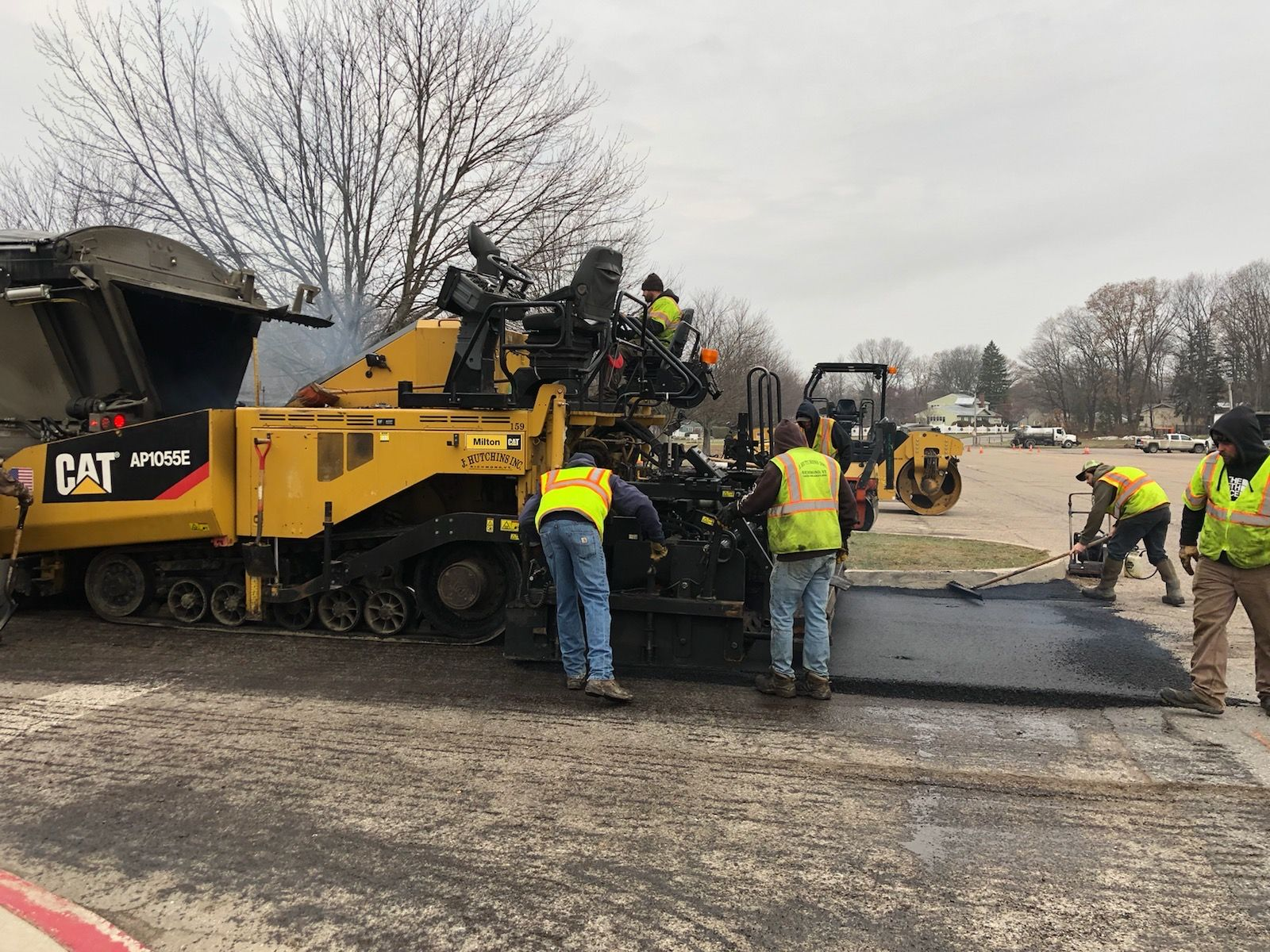 A crew from J. Hutchins, Inc. paved the pull-through in front of the school and the parking lot over Thanksgiving '19 break.