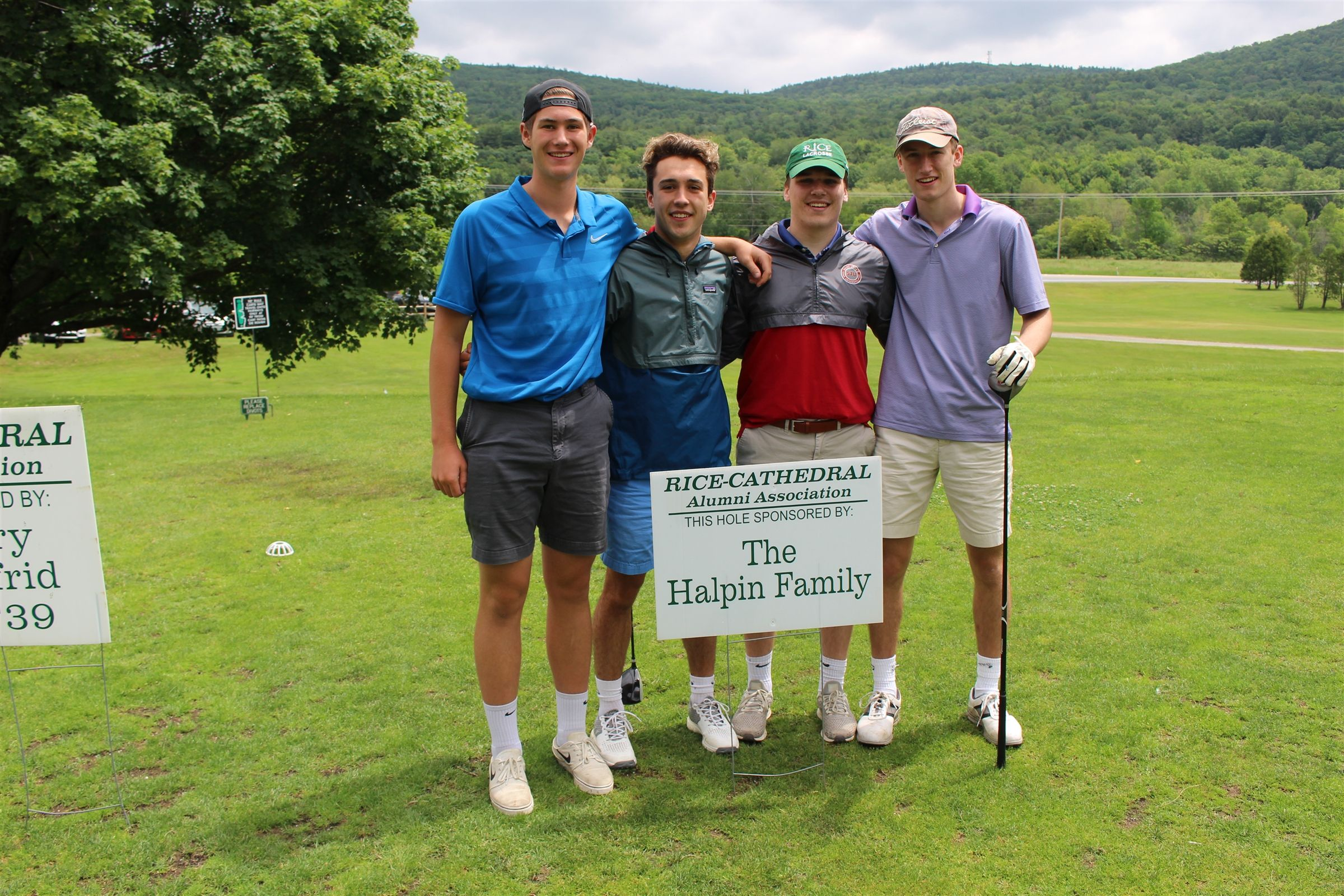 The Halpin family generously sponsored a team of our newest alumni, all graduates of the Class of 2019 - Christian Tarr, Elliot Limanek, Joey Viner and Andrew Snell.