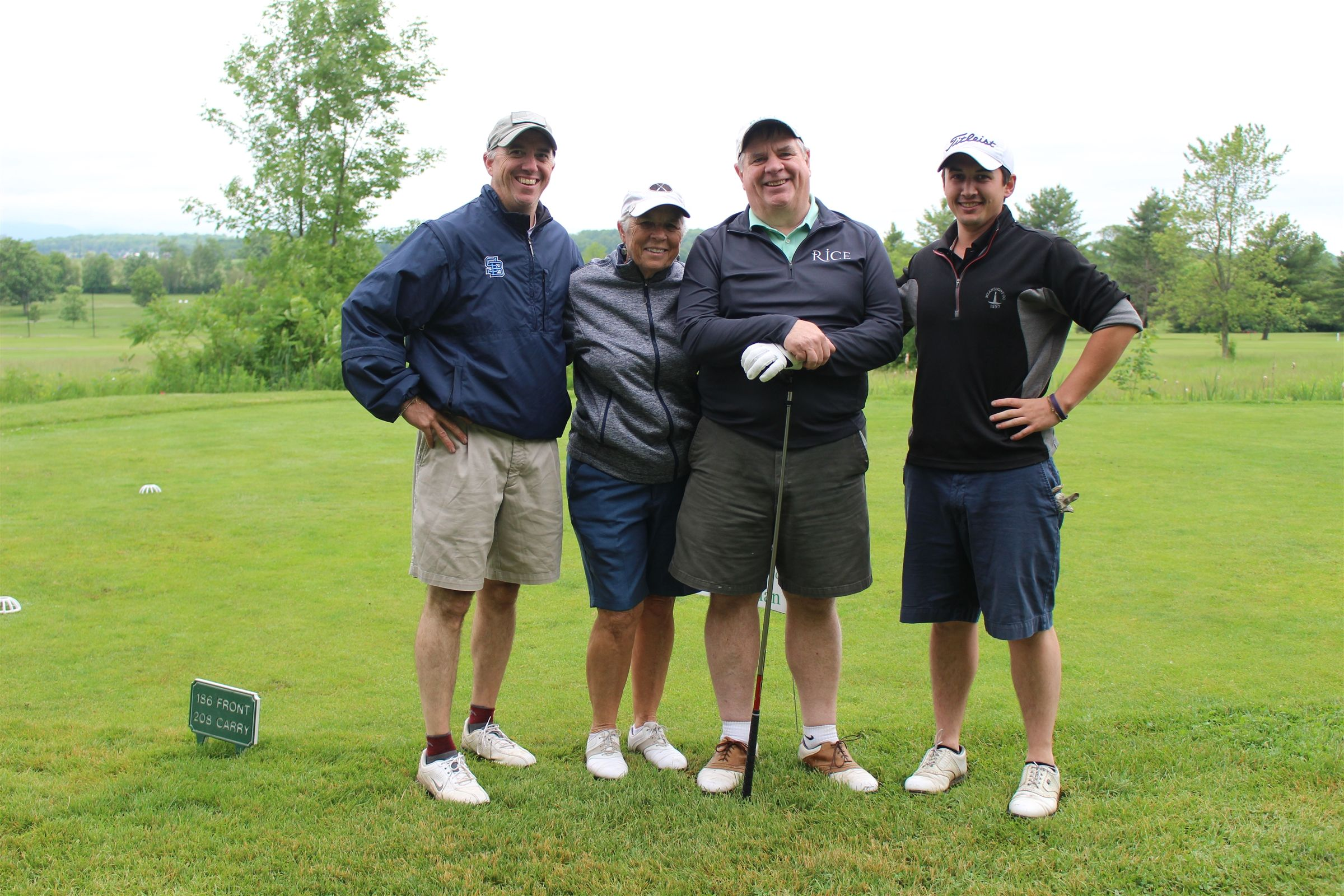 2019 second place winners - Marc Trombley '89, Laura Cummings, Dan McClintock '73 and Dan Hogan '11