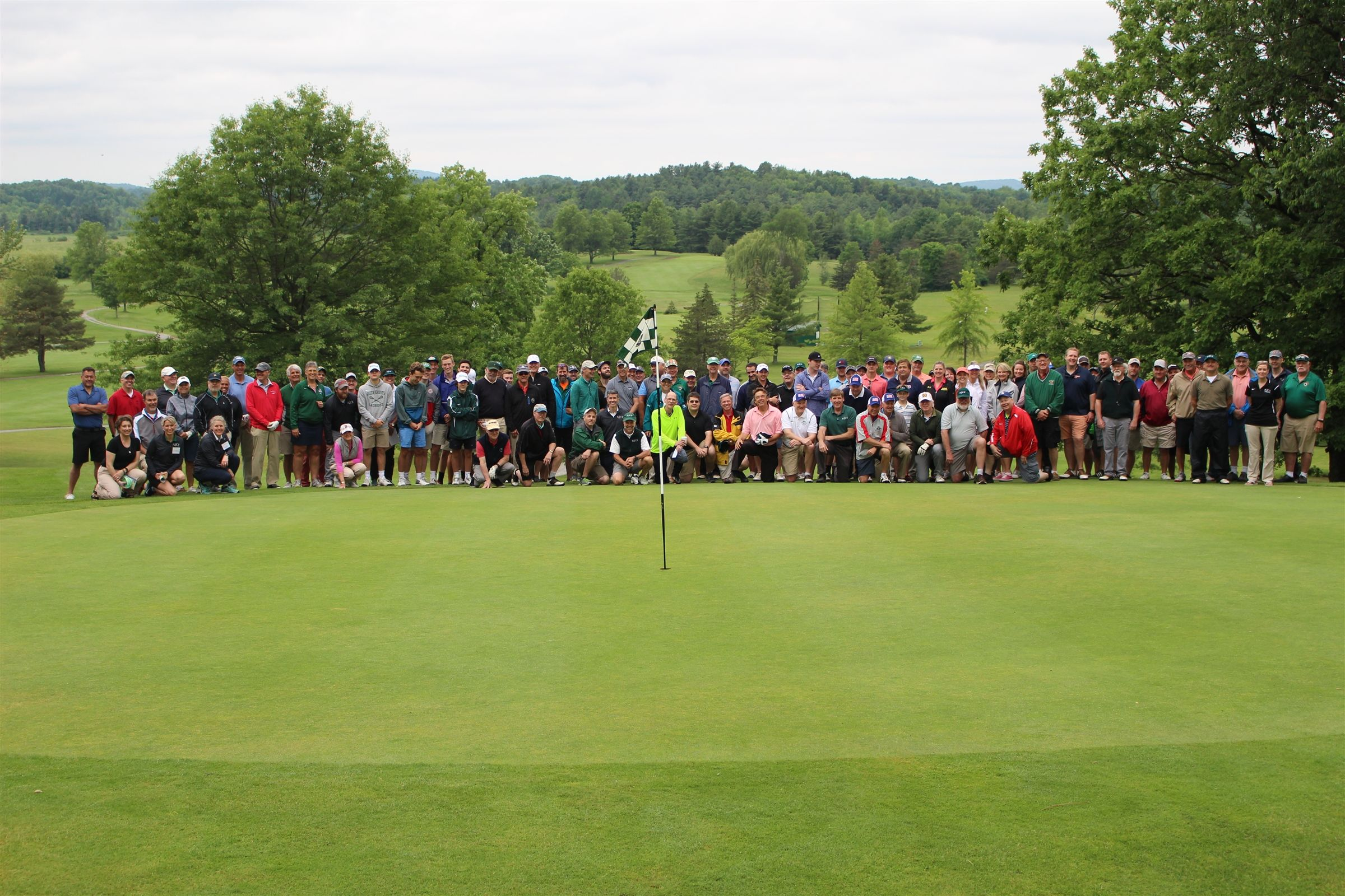 27 four-somes joined us on the course this year.