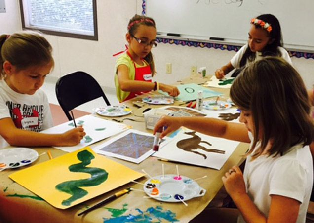 Girls' art camp
