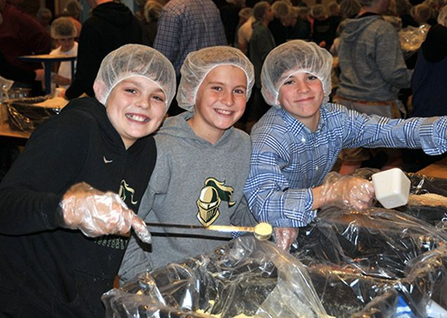 Middle school students at Pinecrest engage in many service projects throughout the year.