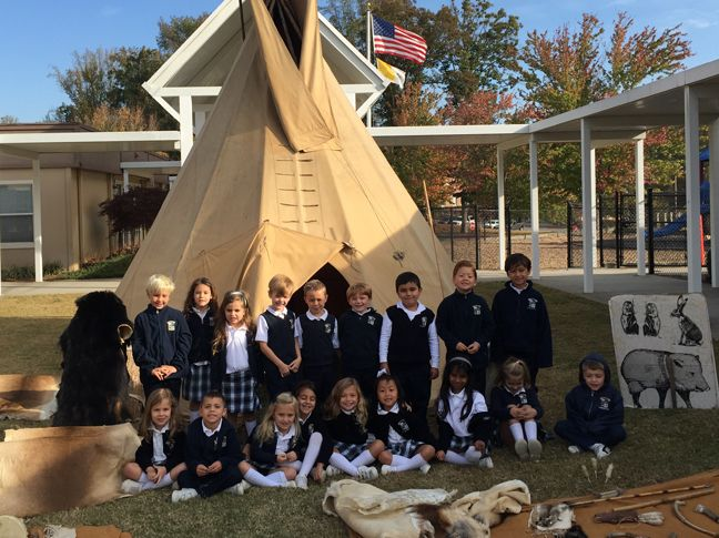Each year, our kindergarten class learns about early American settlers with the