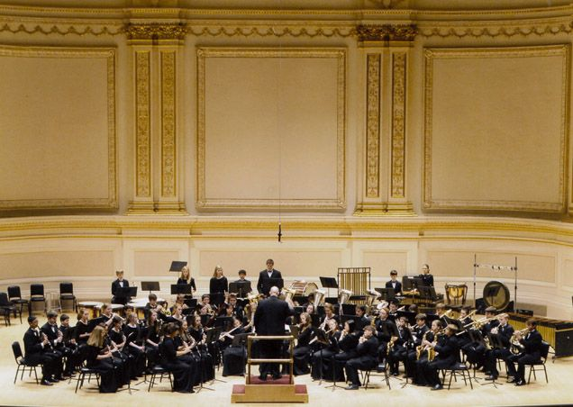 Our Wind Symphony performing at Carnegie Hall