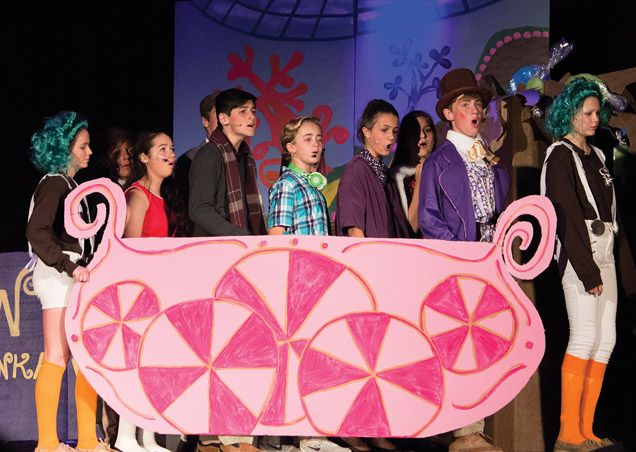 Middle School performs Charlie & The Chocolate Factory