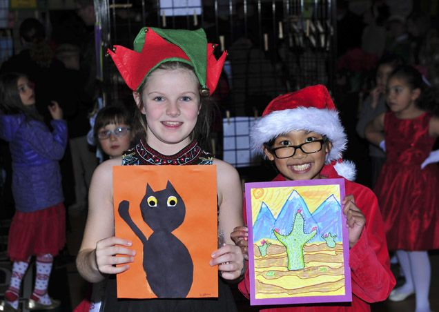 Lower School Christmas Art Show