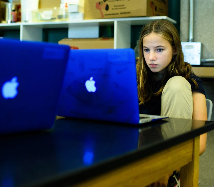 Shipleys 1:1 computing initiative allows learning to happen anywhere, anytime and is not confined to class time or space.