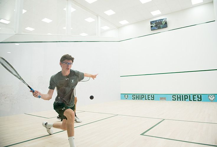 The 5,000 square-foot Squash Center consists of five international-size squash courts featuring sprung wood floors, wood head walls, and resin sidewalls. The Center features continuous spectator seating, and a state-of-the-art electronic scorekeeping system that links directly to US Squash.