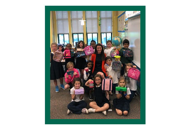 "To support Shipley's ongoing sustainability initiatives, Brooke Donovan's first-grade class committed to bringing in waste-free lunches. The first goal was ""no more plastic water bottles"" and the second was ""no tin foil."" This quickly morphed into students bringing in reusable lunch containers, utensils, and cloth napkins."