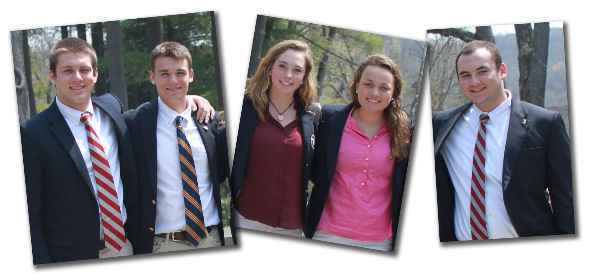 2016-2017 Prefects (L to R): Matt Danner, Eric Hoffman, Calista Connors, Grace van Tartwijk, Ollie Williams