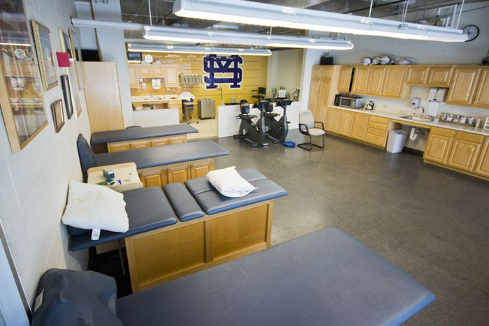 The Roby Mize Training Room features state-of-the-art equipment to keep St. Mark's athletes safe & healthy.