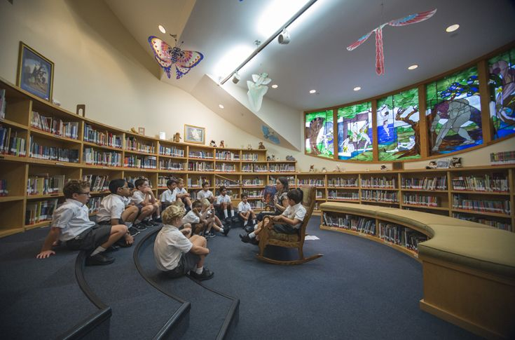The Lower School Library provides a place where little Marksmen can let their imaginations grow while they learn about the world.