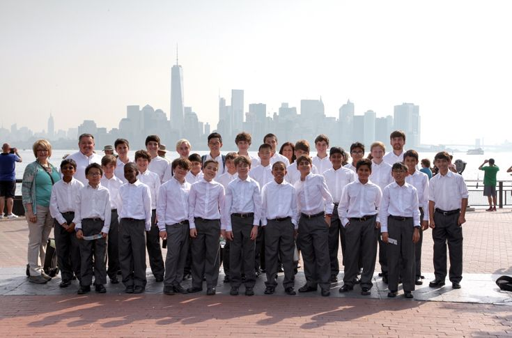 St. Mark's Choir tours New York City during their International Tour.