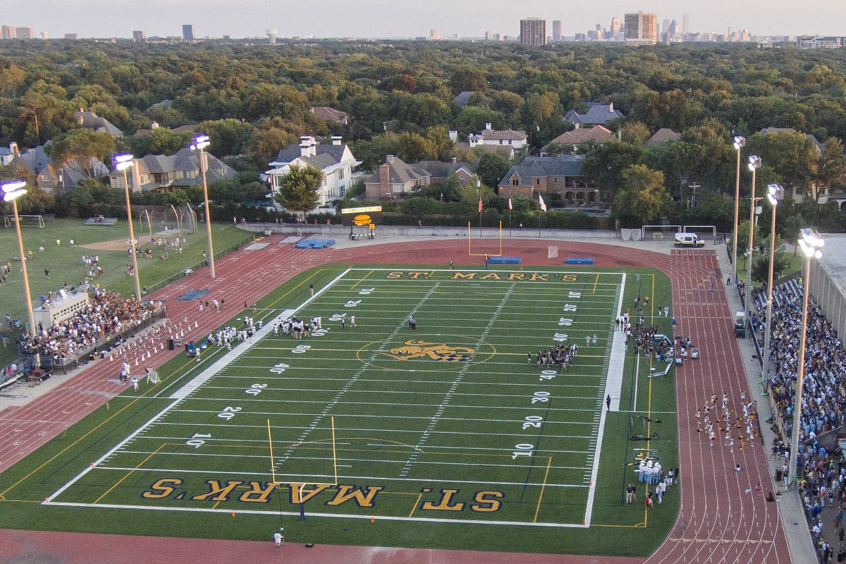 Hunt Stadium is the school's main outdoor athletic field for varsity competition including football, soccer, lacrosse, and track and field. A lighted, all-weather field turf stadium is surrounded by a eight-lane Tartan competition all-weather track.