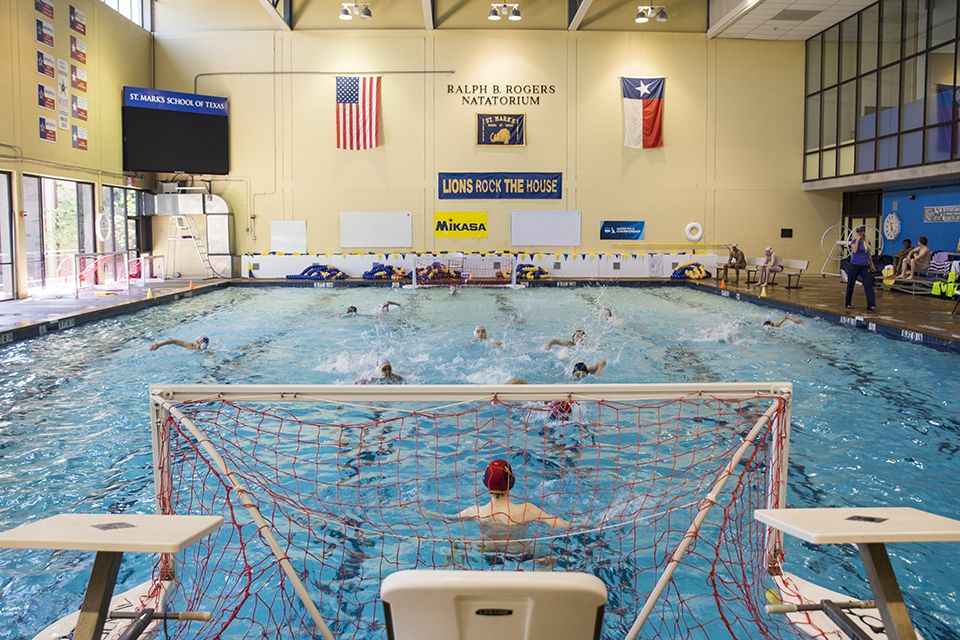 Rogers Natatorium is a competition indoor swimming and diving facility. It supports varsity water polo, swimming, and diving, in addition to supporting physical education programs and camps. Originally constructed in the 1970's and named in honor of long-time Trustee, Ralph B. Rogers, the pool was completely renovated in 2001.