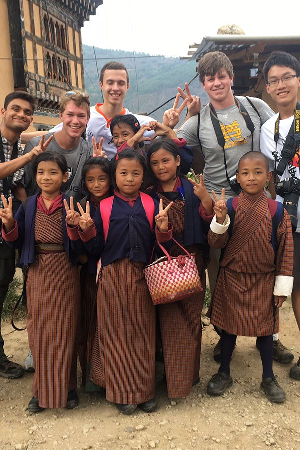 Photography students get to know the local community in Bhutan.