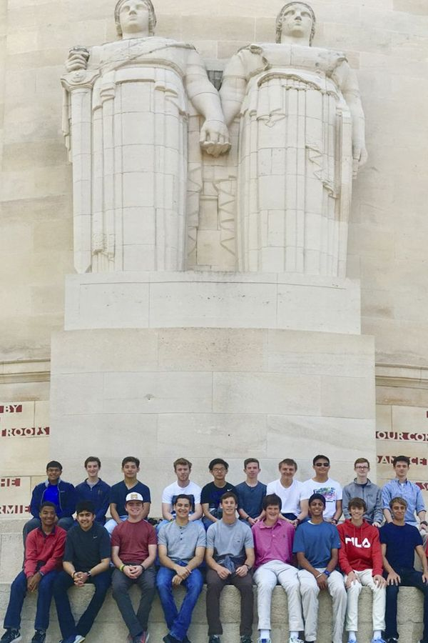 Upper Schoolers visit the Château-Thierry American Monument in France.