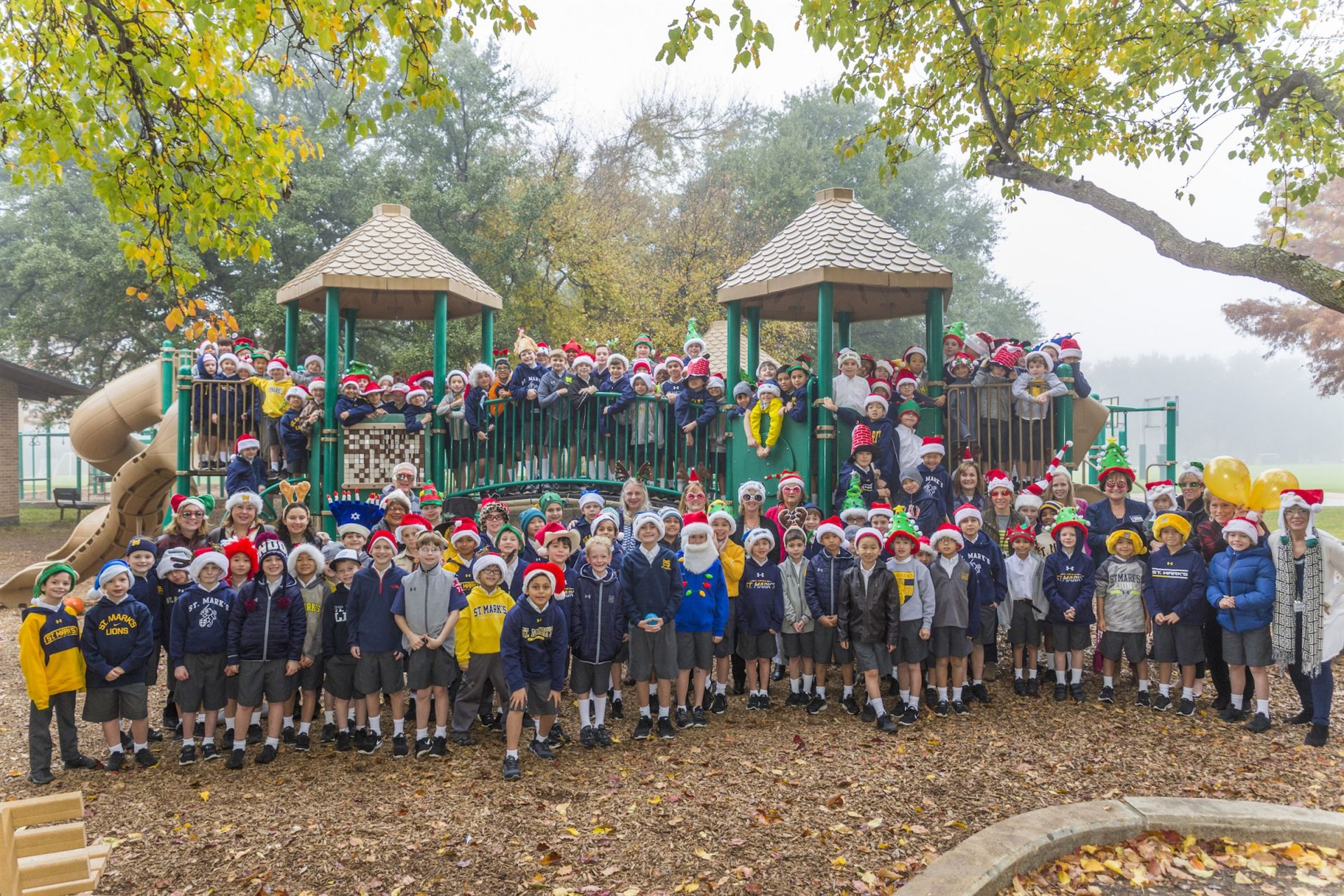 Lower School Holiday Hat Photo