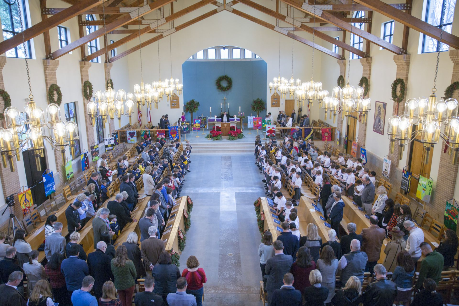 The Lower School celebrates Banner Chapel.