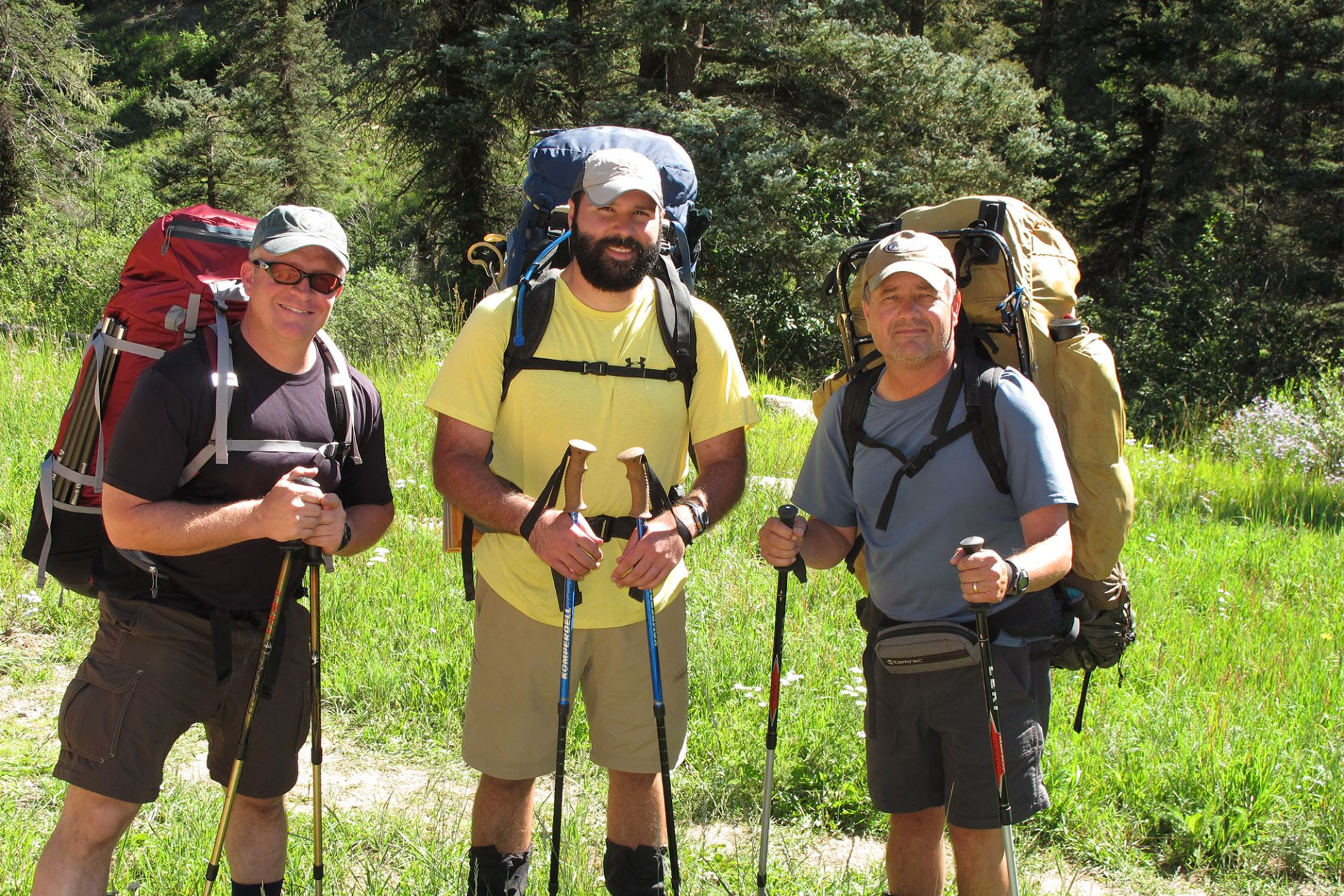 Mark (right) in the Pecos Wilderness