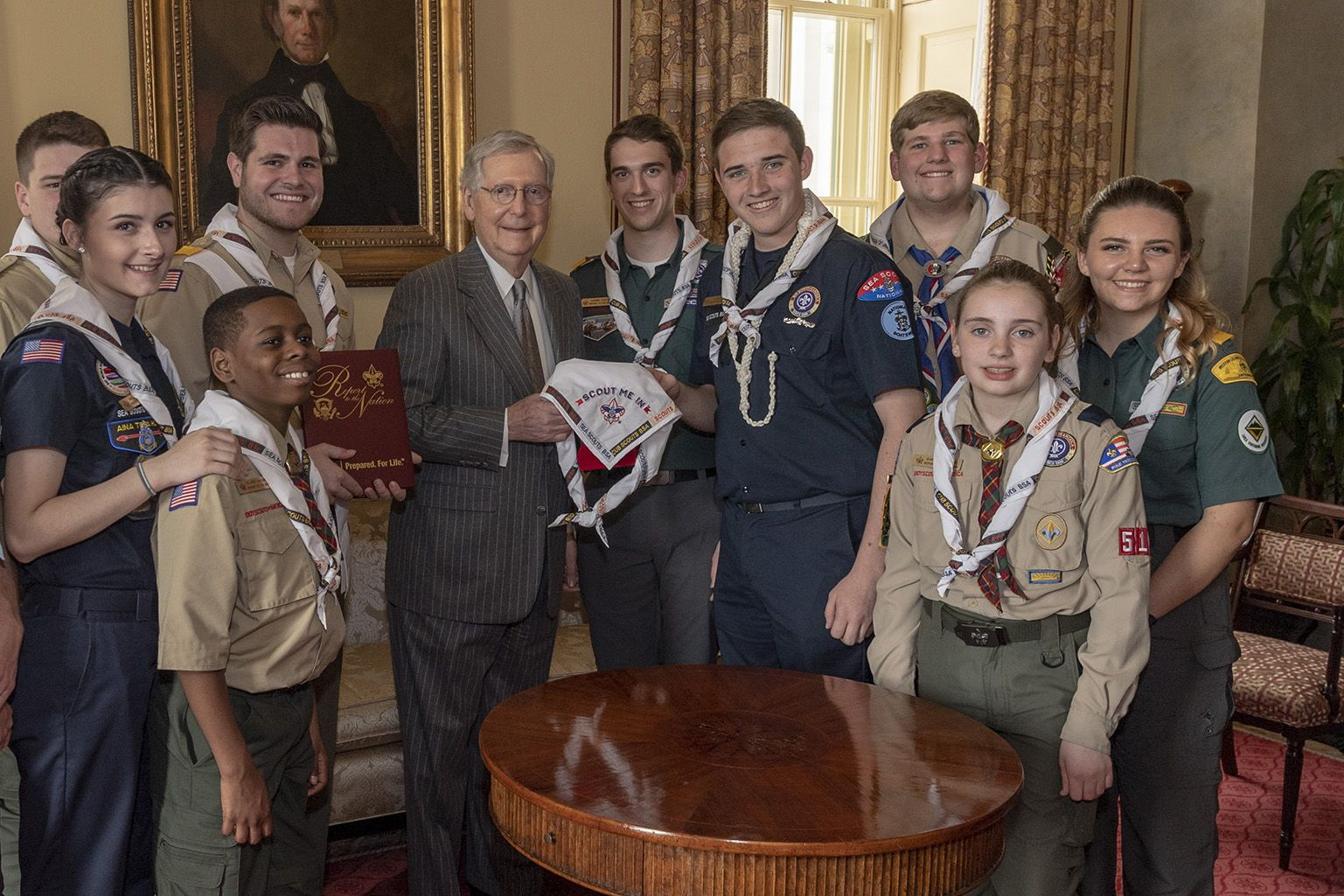 The Scouts with Senate Majority Leader Mitch McConnell