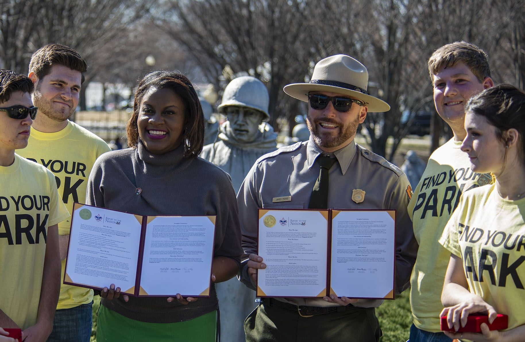 Trevor with members of the National Park Service