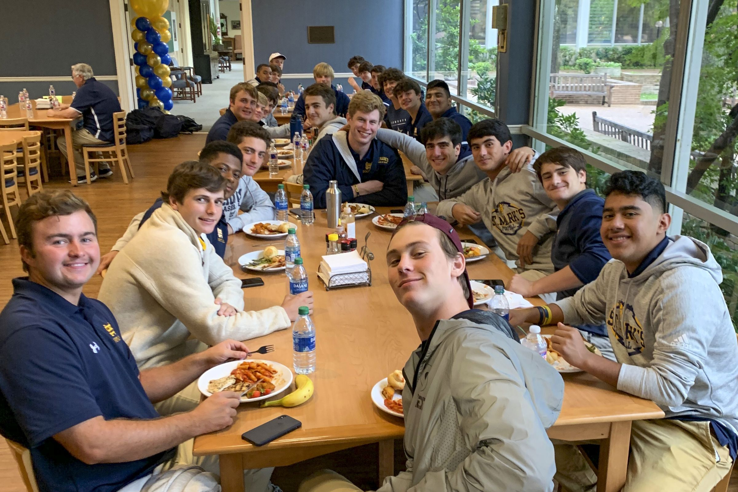The Hockaday School hosts the varsity football team before their Homecoming game.