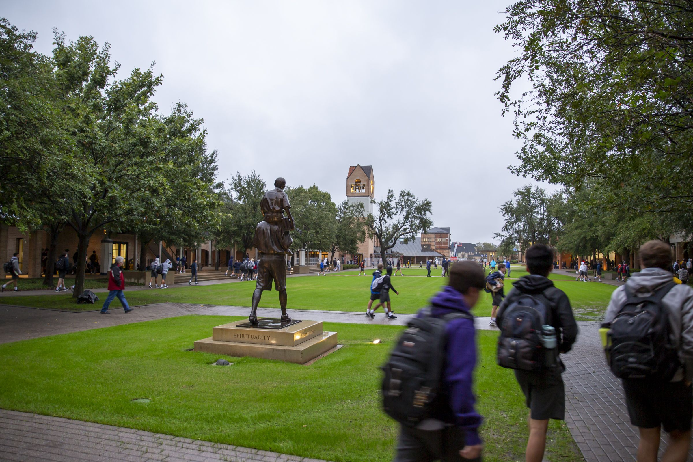 Students return to campus ten days after the tornado struck.