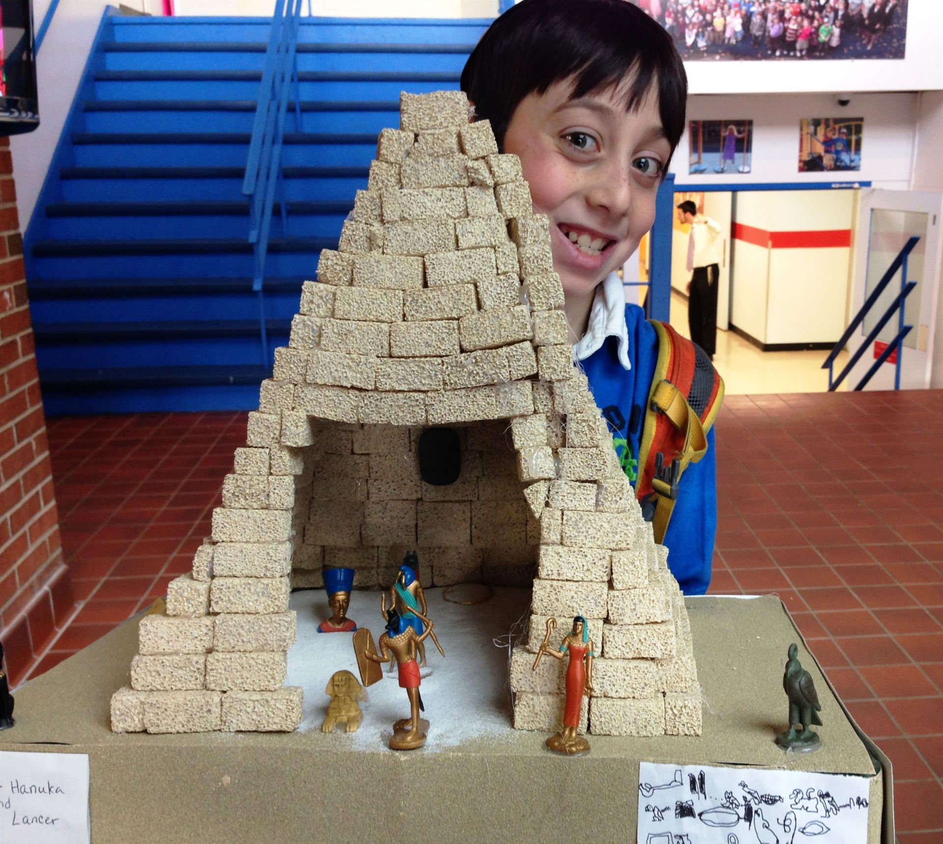 6th Grade learns about Ancient Egypt and designs their very own pyramids.
