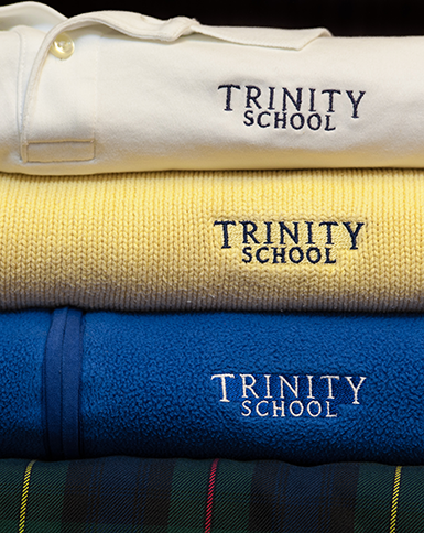 Managed by our Trinity School Parents' Association (TSPA), Trinity offers sales of recycled uniforms at a discounted cost throughout the school year. In addition to providing families the opportunity to reuse uniforms, TSPA works with outside organizations to send any unsold uniforms to children in need overseas.
