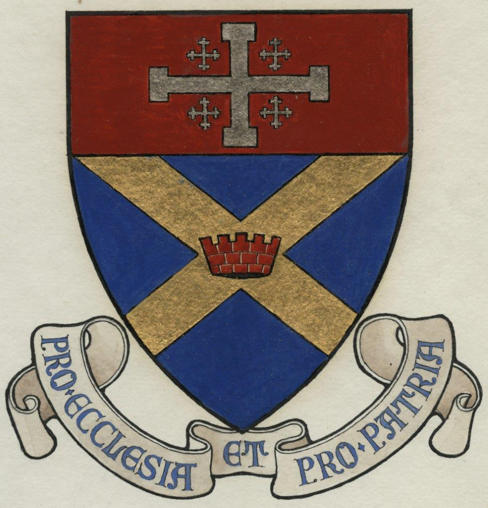 Original artwork for the St. Albans crest.