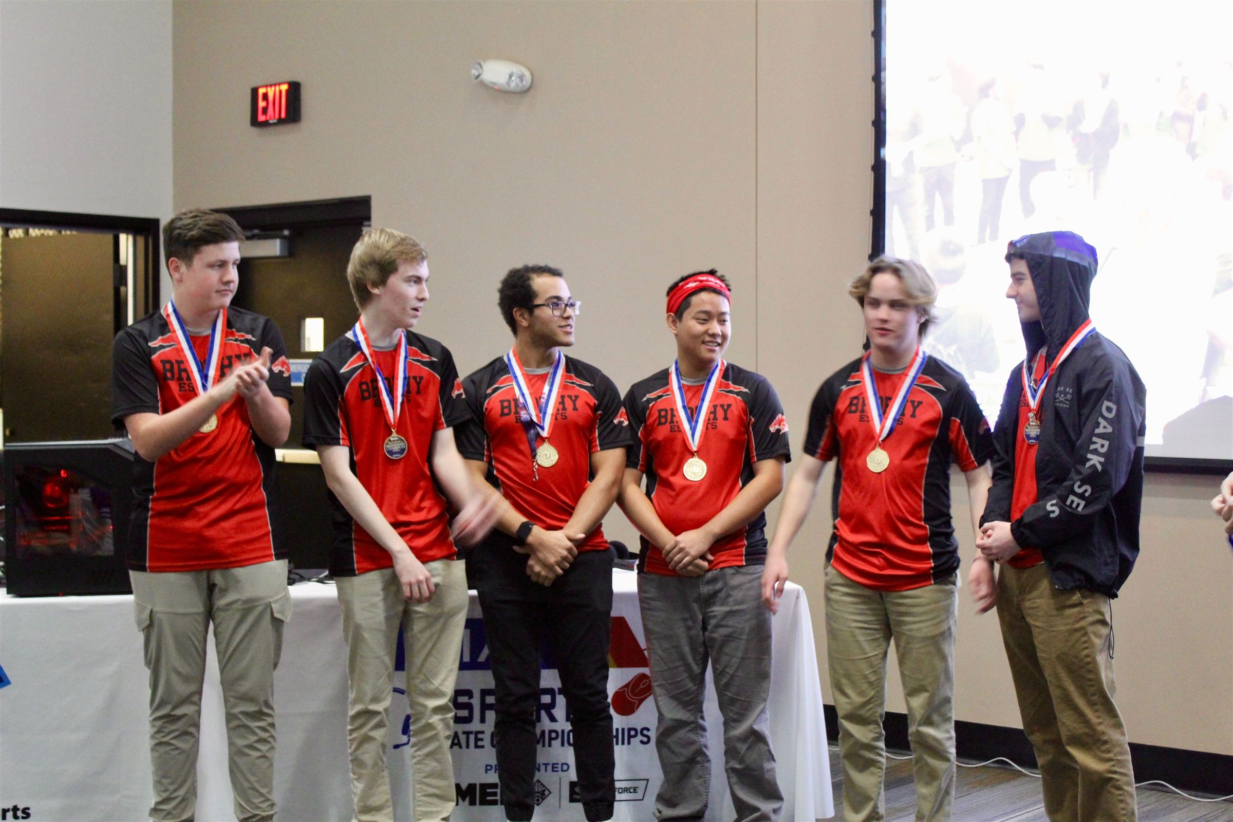 The Rocket League Team (Brophy Iota) and League of Legends Team (Brophy Initium) brought home the first AIA esports state titles.