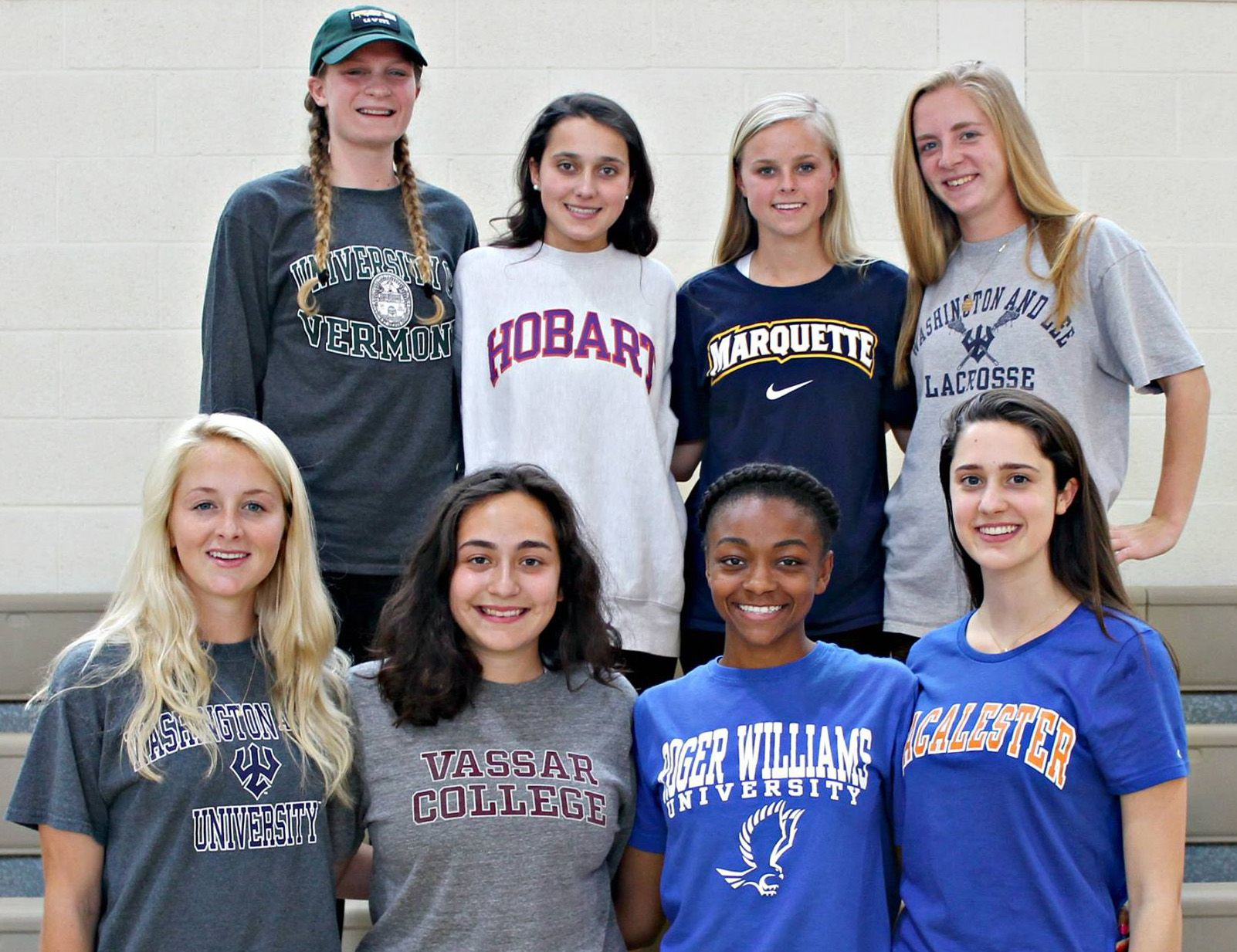 Members of the Class of 2016 who will play a collegiate sport