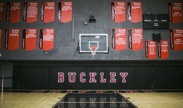 The Disney Pavilion gymnasium boasts Buckley's many athletic championships.