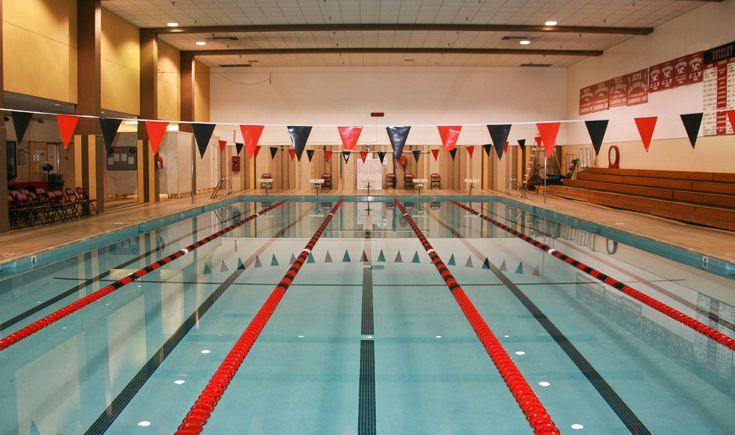 Buckley's swimming pool is located on the Pavilion's basement level.
