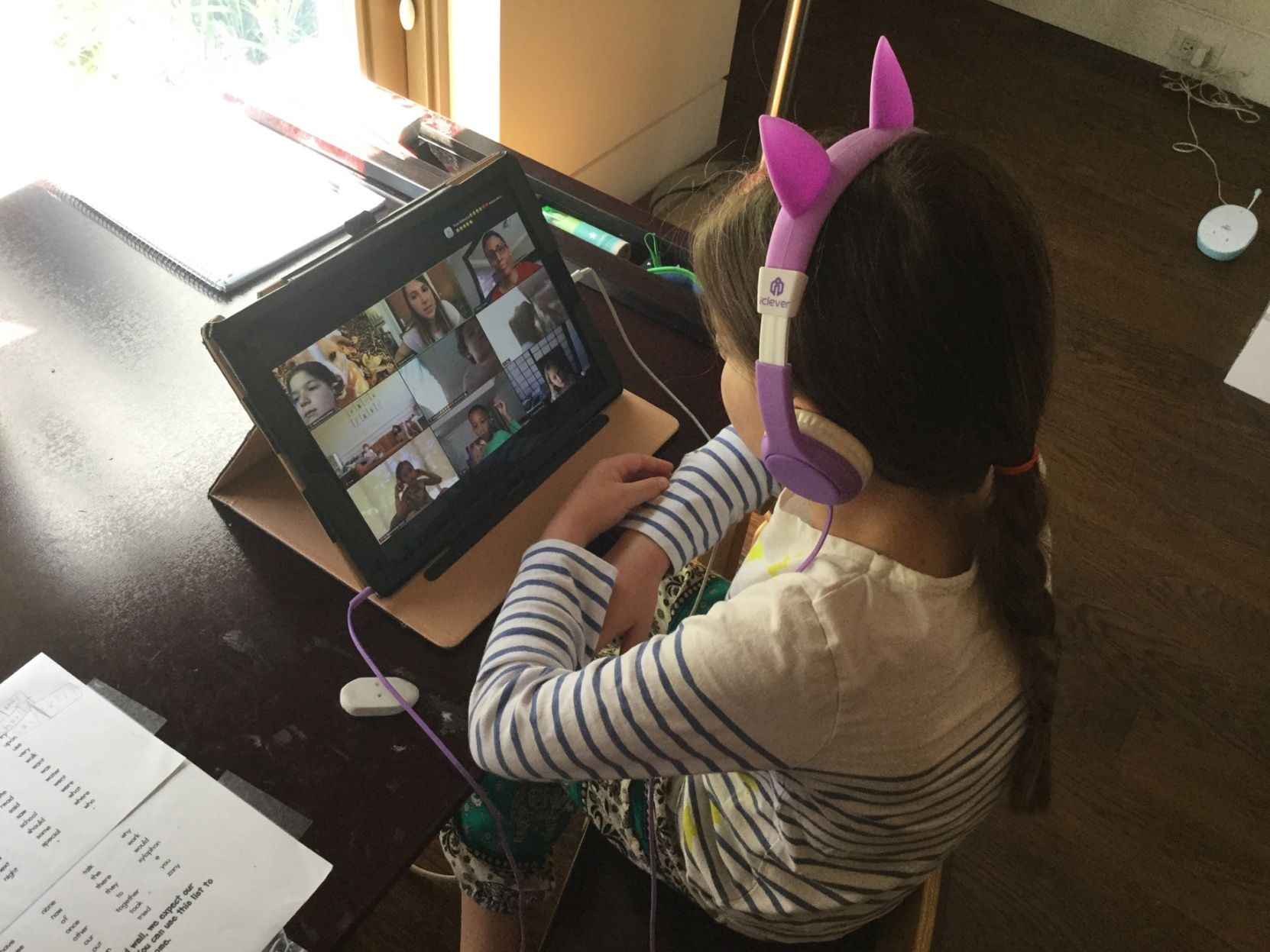 Students participate in K/1 Zoom Culture Club