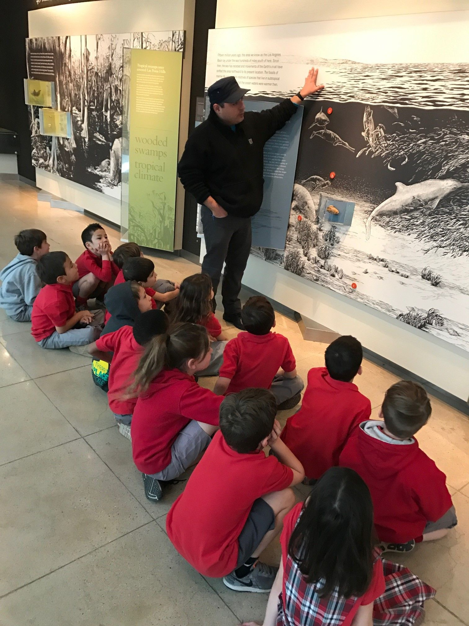 Second grade on their trip to the Natural History Museum.