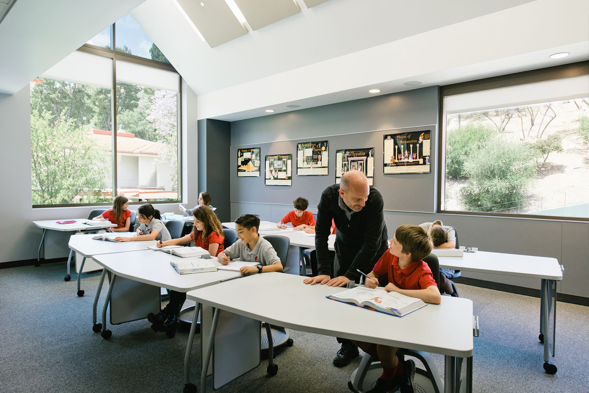 Both Middle and Upper School math classes are held in The Math and Science Building.
