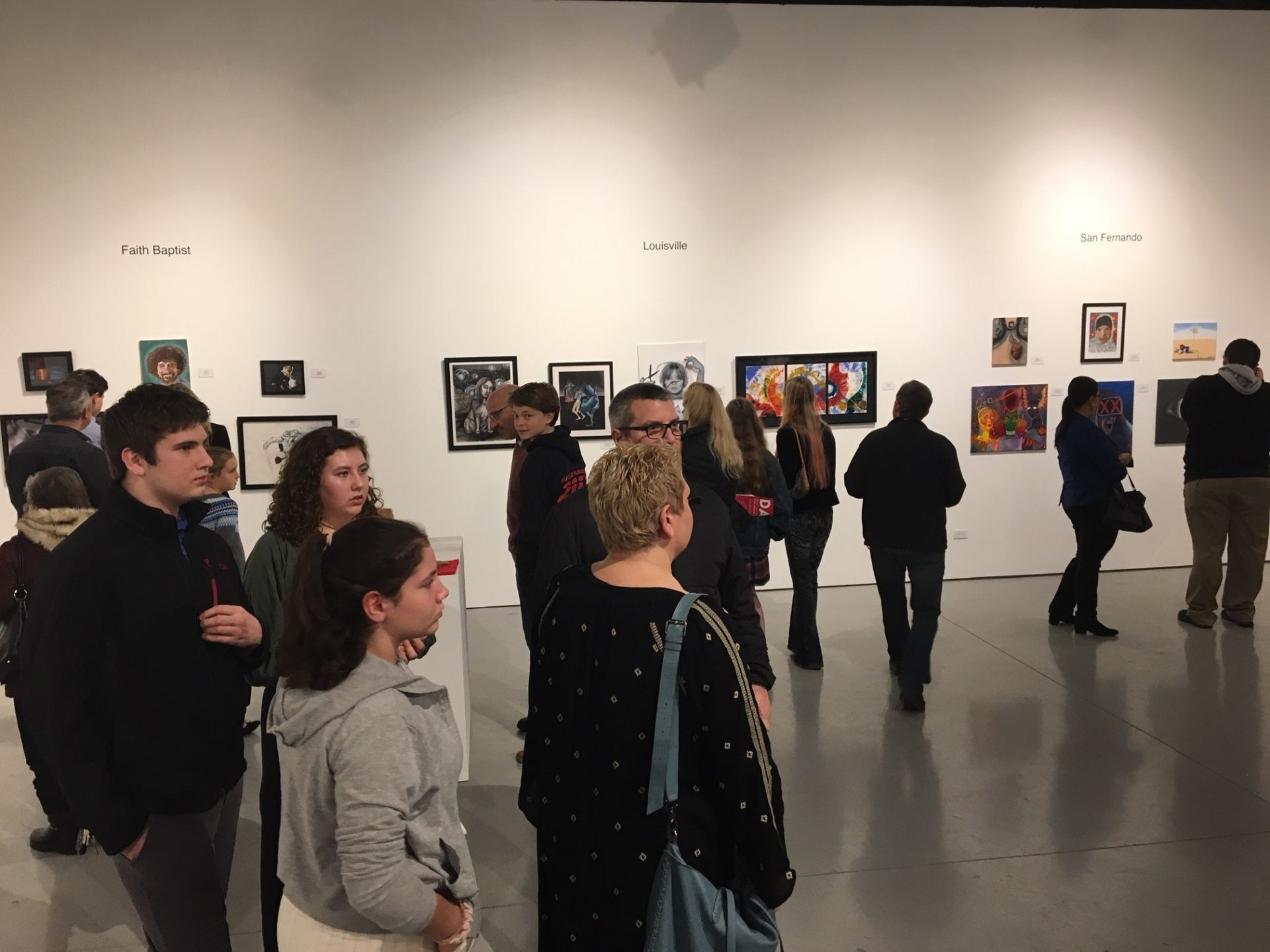 Buckley's exhibition at the 22nd Annual High School Invitational at the Cal State Northridge gallery