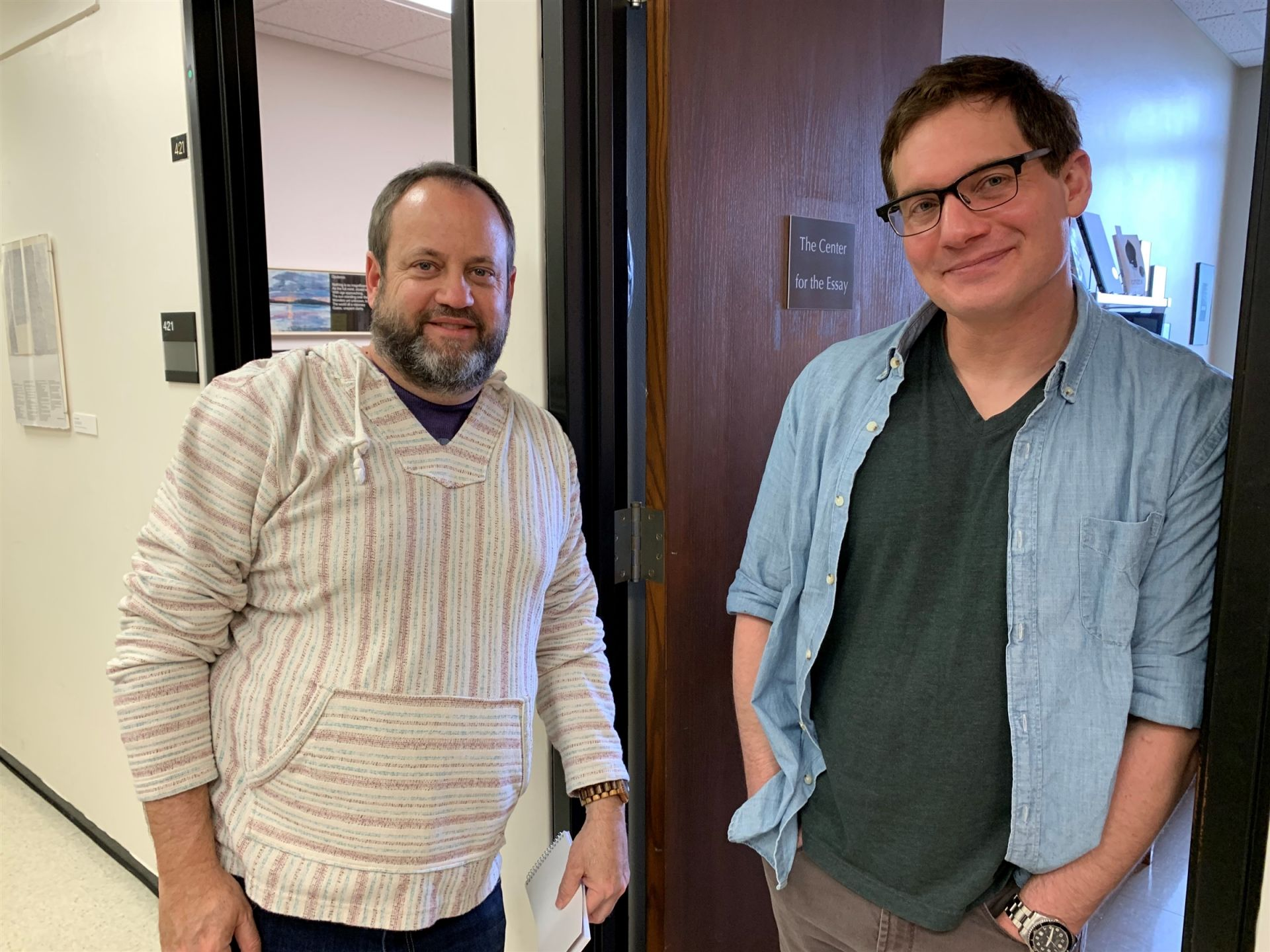 Buckley Upper School English teacher Mitch Kohn and director of the Iowa's Non-Fiction Writers' Workshop John D'Agata piloted the partnership in 2016