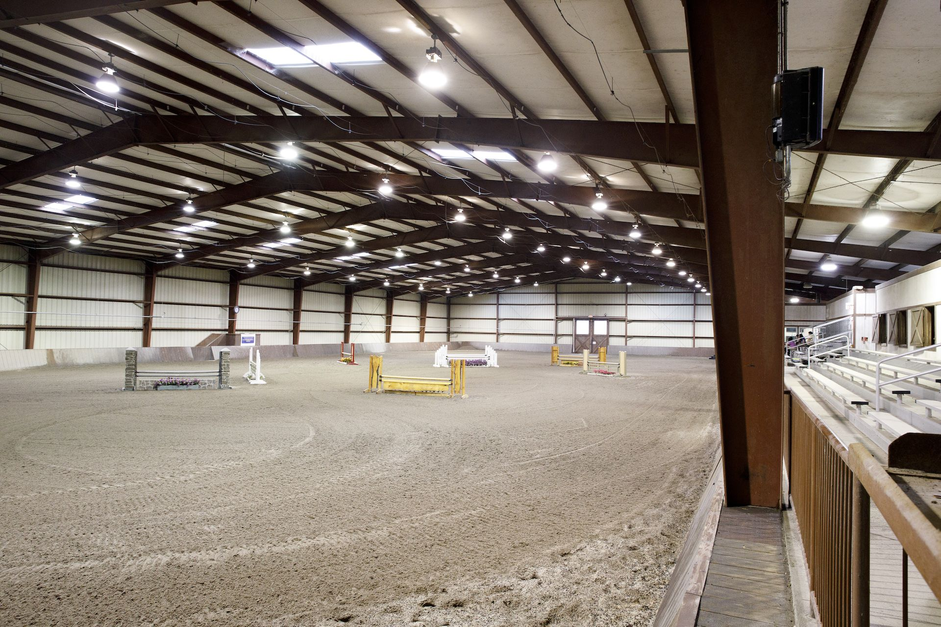 The Mars Riding Arena is the centerpiece of Chatham Hall