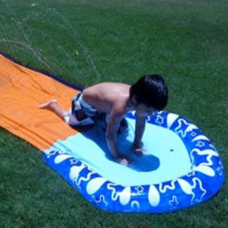 Cooling off on the Slip 'n Slide.
