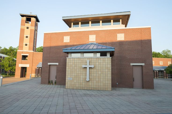 This is the Chapel of St. James, where daily Mass is held at 7:10 each morning. At Father Ryan High School, our students are immersed fully into a life of faith. We challenge students to grow spiritually, academically and personally while providing a solid foundation in the Catholic tradition.