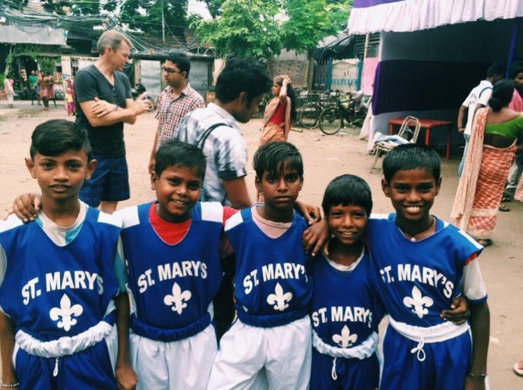 Our Saints sent our gently used basketball uniforms into the welcome arms of our sponsor school in India.  We are blessed by their gratitude.