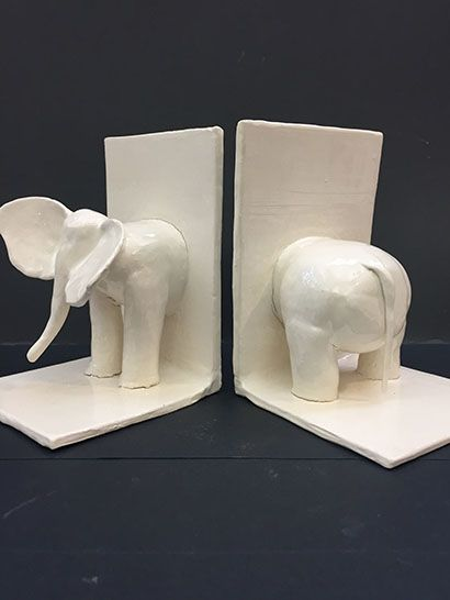 5 - Elephant Bookends