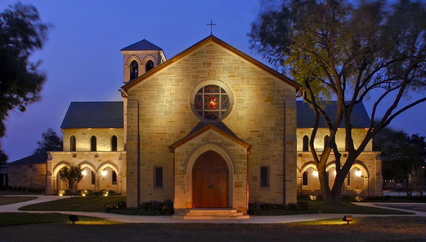 Image result for image of casady chapel at night